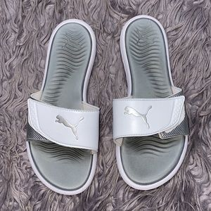 Women's Puma White Slides